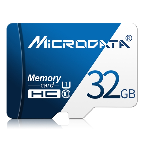 MICRODATA 32GB U1 Blue and White TF(Micro SD) Memory Card