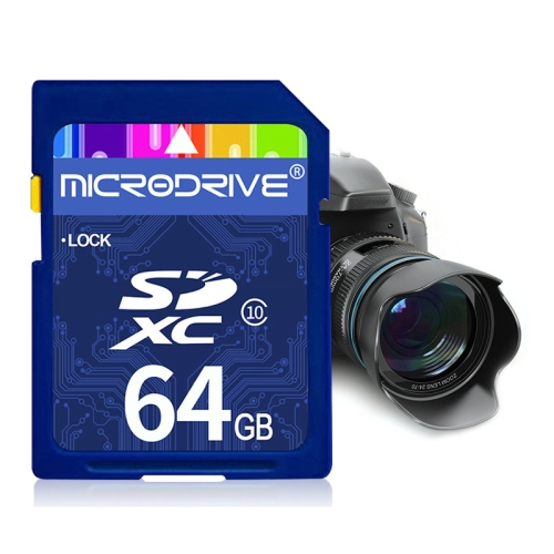 Mircodrive 64GB High Speed Class 10 SD Memory Card for All Digital Devices with SD Card Slot