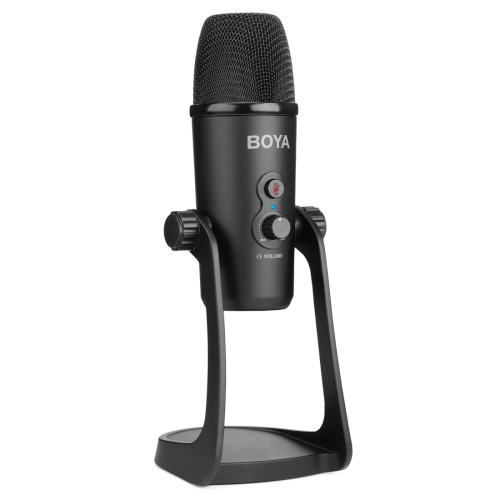 BOYA BY-PM700 USB Sound Recording Condenser Microphone with Holder, Compatible with PC / Mac for Live Broadcast Show, KTV, etc. (Black)