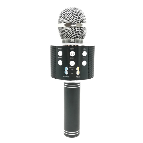 WS-858 Metal High Sound Quality Handheld KTV Karaoke Recording Bluetooth Wireless Microphone, for Notebook, PC, Speaker, Headphone, iPad, iPhone, Galaxy, Huawei, Xiaomi, LG, HTC and Other Smart Phones(Black)