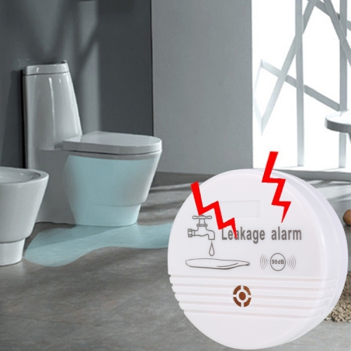 360 Degrees Water Leak Detector Sensor 85dB Volume Water Leakage Alarm for Home Kitchen, Toilet, Floor high quality electronic water leak detector with 1 2 valve and 2pcs 6m sensor wires retail or wholesale drop shipping