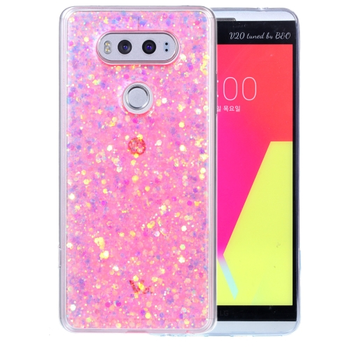 competitive price bf096 63d19 SUNSKY - สำหรับเคส LGV20 Glitter Powder Soft TPU Protective Case ...