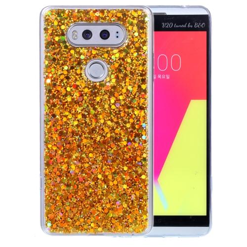 best loved 2bf6a 83927 SUNSKY - สำหรับเคส LGV20 Glitter Powder Soft TPU Protective Case (สีทอง)
