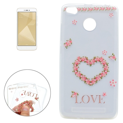 Xiaomi Redmi 4X Love Flower Pattern Soft TPU Protective Case