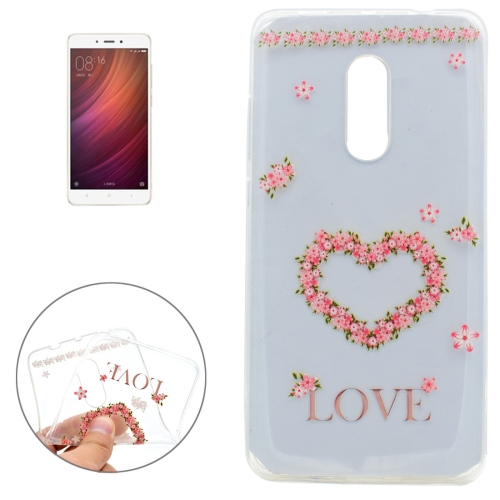 Buy Xiaomi Redmi Note 4 Love Flower Pattern Soft TPU Protective Case for $1.16 in SUNSKY store