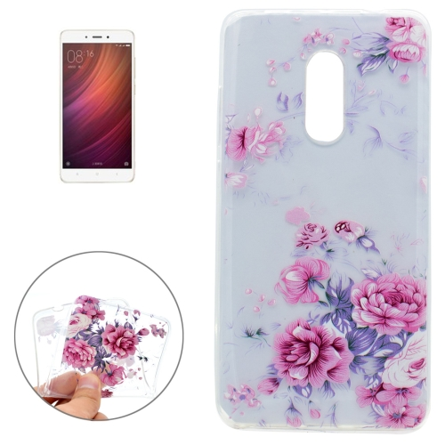 Buy Xiaomi Redmi Note 4 Colorful Pink Flower Pattern Soft TPU Protective Case for $1.16 in SUNSKY store
