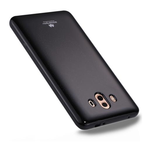 GOOSPERY MERCURY PEARL JELLY Huawei Mate 10 TPU Soft Protective Back Cover Case, Black
