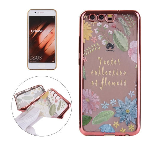 Buy Huawei P10 Electroplating Embossed Lucky Leaves Pattern TPU Protective Back Cover Case for $1.91 in SUNSKY store
