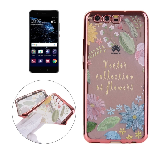 Buy Huawei P10 Plus Electroplating Embossed Lucky Leaves Pattern TPU Protective Back Cover Case for $1.91 in SUNSKY store