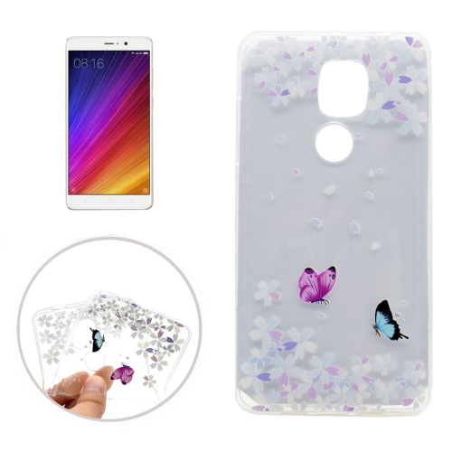 Buy Xiaomi Mi 5s Plus Variegated Butterflies Pattern Transparent Soft TPU Protective Back Cover Case for $1.16 in SUNSKY store