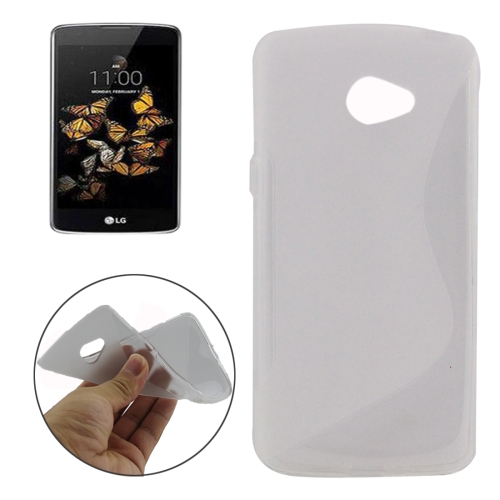 Buy For LG K5 S-Shaped Soft TPU Protective Cover Case, Transparent for $1.01 in SUNSKY store