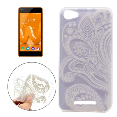 Buy For Wiko Jerry Half Flower Pattern Transparent TPU Soft Protective Back Cover Case for $1.16 in SUNSKY store