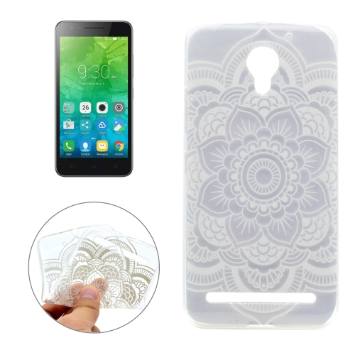 Buy For Lenovo Vibe C2 Flower Pattern Transparent TPU Soft Protective Back Cover Case for $1.16 in SUNSKY store