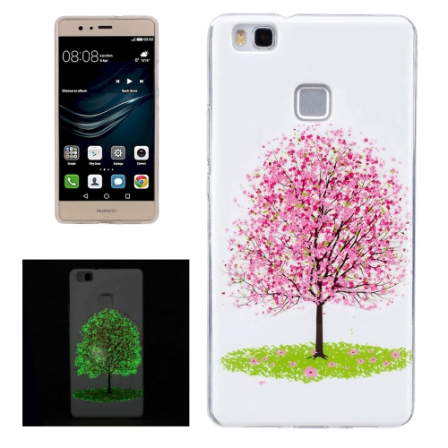 Buy For Huawei P9 Lite Noctilucent Cherry Tree Pattern IMD Workmanship Soft TPU Back Cover Case for $1.35 in SUNSKY store