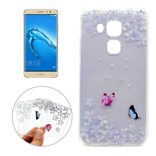 Buy For Huawei nova plus & Maimang 5 Flower Butterfly Pattern Transparent Soft TPU Protective Back Cover Case for $1.16 in SUNSKY store