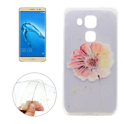 Buy For Huawei nova plus & Maimang 5 Flower Pattern Transparent Soft TPU Protective Back Cover Case for $1.16 in SUNSKY store