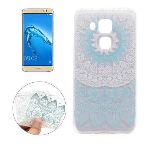 Buy For Huawei nova plus & Maimang 5 Blue Flower Texture Pattern Transparent Soft TPU Protective Back Cover Case for $1.16 in SUNSKY store