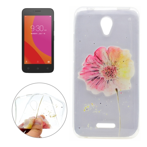 Buy For Lenovo Vibe B Flower Pattern Transparent Soft TPU Protective Back Cover Case for $1.16 in SUNSKY store