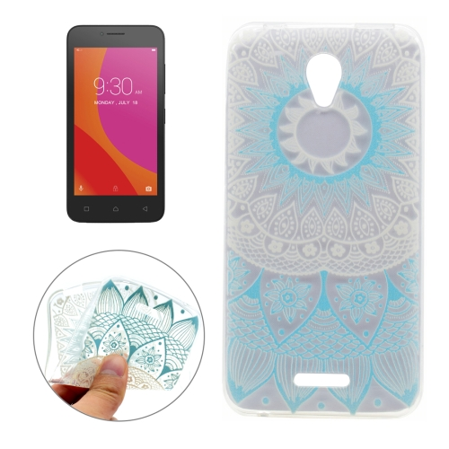 Buy For Lenovo Vibe B Blue Flower Texture Pattern Transparent Soft TPU Protective Back Cover Case for $1.16 in SUNSKY store