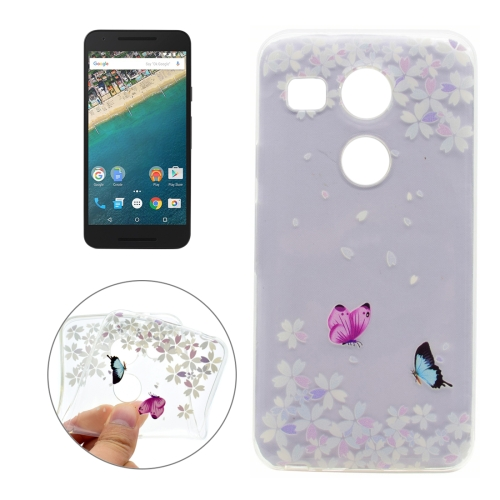 Buy For LG Nexus 5X Variegated Butterflies Pattern Soft Transparent TPU Protective Back Cover Case for $1.16 in SUNSKY store