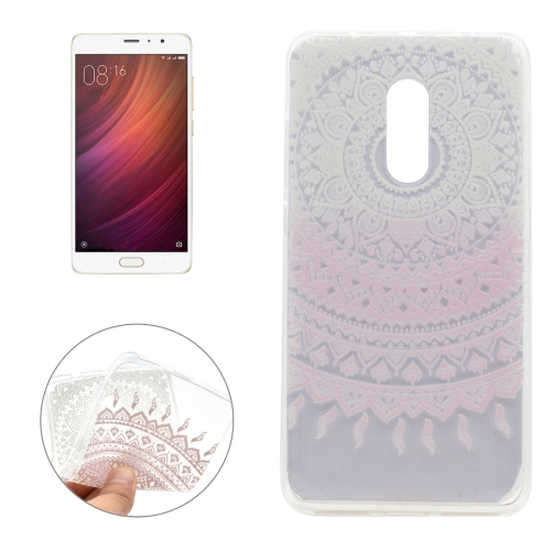 Buy Xiaomi Redmi Pro Pink Flower Pattern Transparent Soft TPU Protective Back Cover Case for $1.16 in SUNSKY store