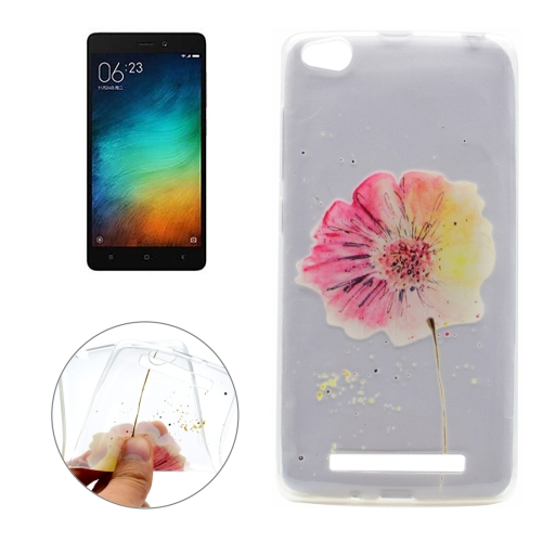 Buy Xiaomi Redmi 3 Flower Pattern Transparent Soft TPU Protective Back Cover Case for $1.16 in SUNSKY store