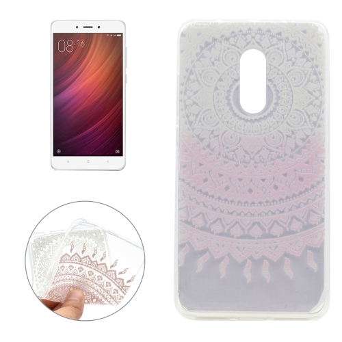Buy Xiaomi Redmi Note 4 Pink Flower Pattern Transparent Soft TPU Protective Back Cover Case for $1.16 in SUNSKY store
