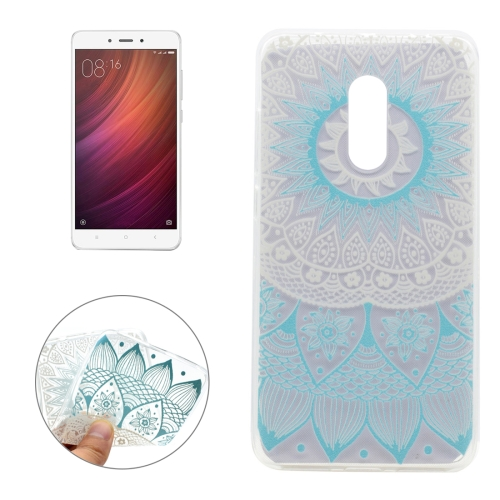 Buy Xiaomi Redmi Note 4 Blue Flower Pattern Transparent Soft TPU Protective Back Cover Case for $1.16 in SUNSKY store