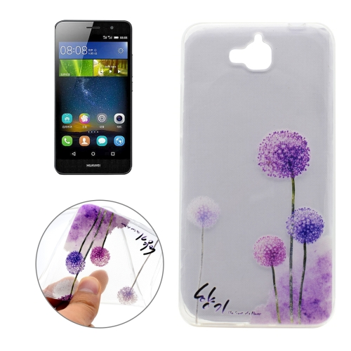 Buy For Huawei Y6 Pro Dandelion Pattern Transparent Soft TPU Protective Back Cover Case for $1.16 in SUNSKY store