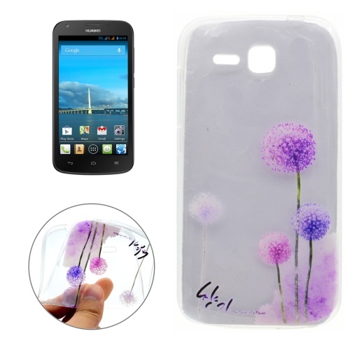Buy For Huawei Ascend Y600 Dandelion Pattern Transparent Soft TPU Protective Back Cover Case for $1.16 in SUNSKY store