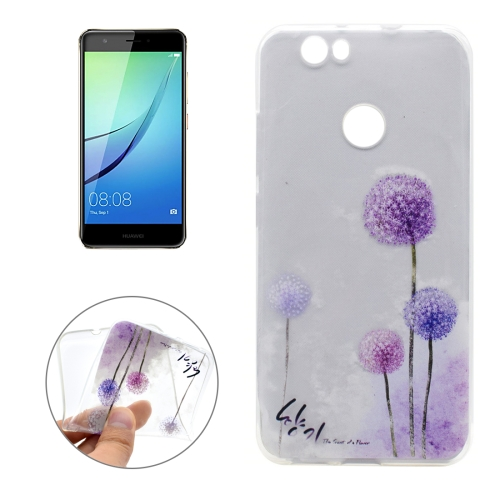 Buy For Huawei nova Dandelion Pattern Transparent Soft TPU Protective Back Cover Case for $1.16 in SUNSKY store
