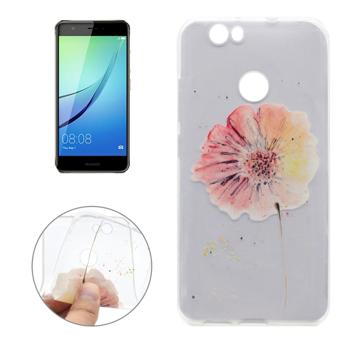 Buy For Huawei nova Flower Pattern Transparent Soft TPU Protective Back Cover Case for $1.16 in SUNSKY store