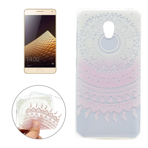 Buy For Lenovo VIBE P1 Pink Flower Pattern Transparent Soft TPU Protective Back Cover Case for $1.16 in SUNSKY store