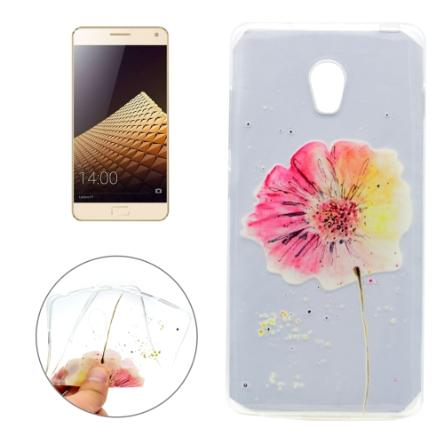 Buy For Lenovo VIBE P1 Flower Pattern Transparent Soft TPU Protective Back Cover Case for $1.16 in SUNSKY store