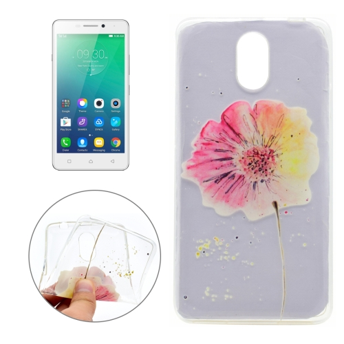 Buy For Lenovo VIBE P1m Flower Pattern Transparent Soft TPU Protective Back Cover Case for $1.16 in SUNSKY store