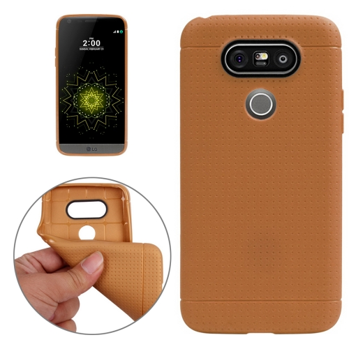 For LG G5 Honeycomb Surface TPU Protective Case, Brown
