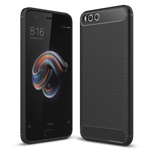 Buy Xiaomi Mi Note 3 Brushed Carbon Fiber Texture TPU Shockproof Anti-slip Soft Protective Back Cover Case, Black for $2.01 in SUNSKY store