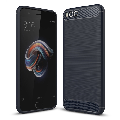 Buy Xiaomi Mi Note 3 Brushed Carbon Fiber Texture TPU Shockproof Anti-slip Soft Protective Back Cover Case (Navy Blue) for $2.01 in SUNSKY store