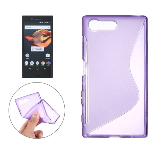 For Sony Xperia X Compact S-Shaped Soft TPU Protective Cover Case, Purple