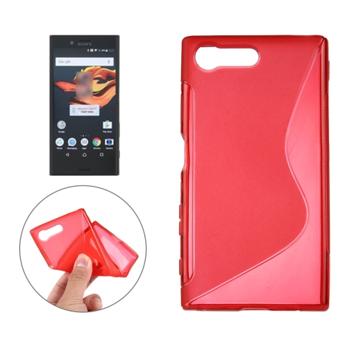 For Sony Xperia X Compact S-Shaped Soft TPU Protective Cover Case, Red