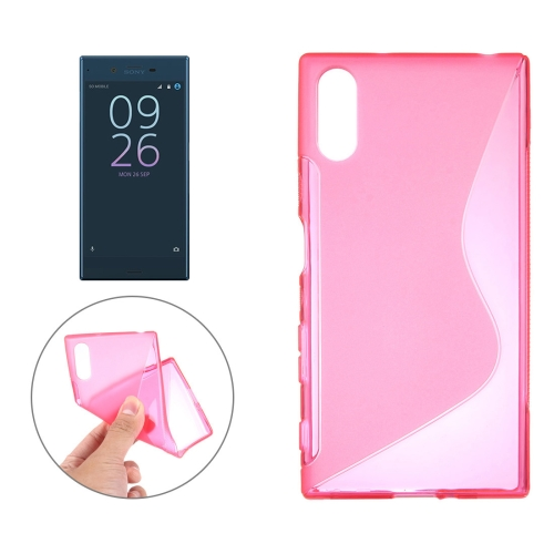 Buy For Sony Xperia XZ S-Shaped Soft TPU Protective Cover Case, Pink for $1.01 in SUNSKY store