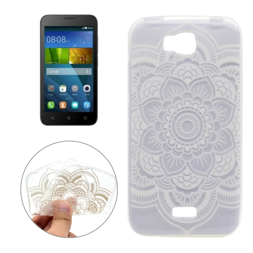 Buy For Huawei Honor Bee Flower Pattern Transparent TPU Soft Protective Back Cover Case for $1.16 in SUNSKY store