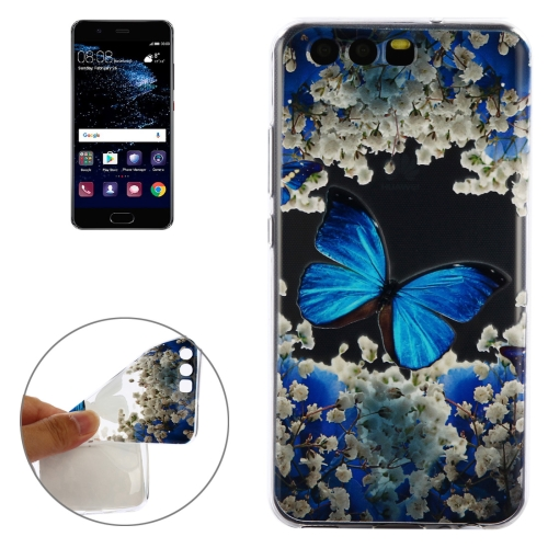 Buy Huawei P10 Blue Butterfly Pattern Soft TPU Protective Case for $1.40 in SUNSKY store
