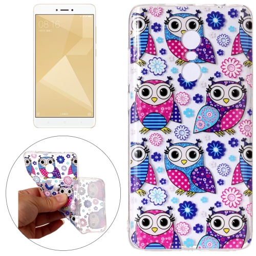 Buy Xiaomi Redmi Note 4 Flower Owls Pattern Embossment TPU Protective Back Cover Case for $1.54 in SUNSKY store