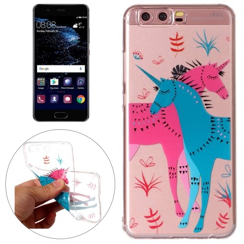 Buy Huawei P10 Red and Blue Unicorn Pattern Embossment TPU Protective Back Cover Case for $1.54 in SUNSKY store