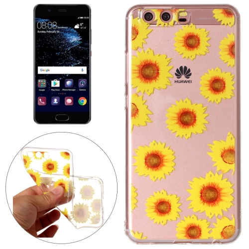 Buy Huawei P10 Chrysanthemum Pattern Embossment TPU Protective Back Cover Case for $1.46 in SUNSKY store