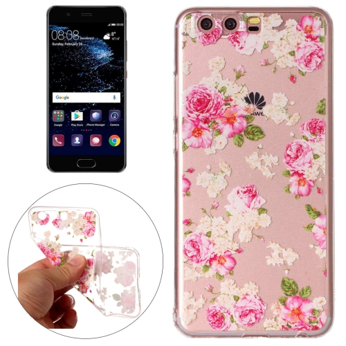 Buy Huawei P10 Roses Pattern Embossment TPU Protective Back Cover Case for $1.46 in SUNSKY store