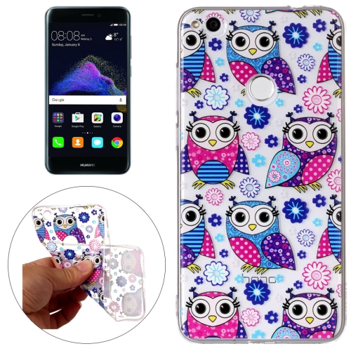 Buy Huawei P8 Lite, 2017 Flower Owls Pattern Embossment TPU Protective Back Cover Case for $1.54 in SUNSKY store