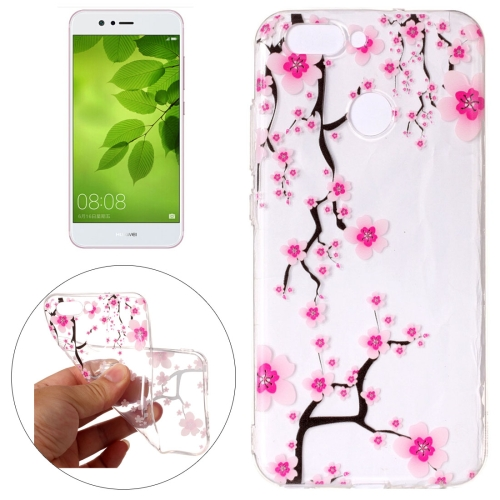 Buy Huawei nova 2 Pink Plum Blossom Pattern Embossment TPU Protective Back Cover Case for $1.54 in SUNSKY store