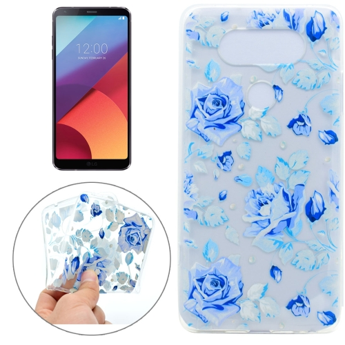 Buy For LG G6 Colorful Blue Flower Pattern TPU Protective Case for $1.10 in SUNSKY store